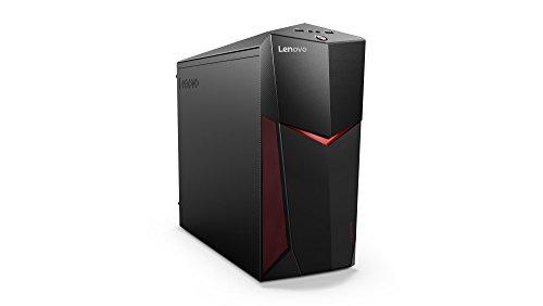 Lenovo Legion Y520 Gaming Desktop PC (Intel Core i7-7700 Quad-Core, 16 GB RAM, 1 TB HDD, 128 GB SSD, DVD-Brenner, Nvidia GeForce GTX1060, Windows 10 Home) schwarz (black)
