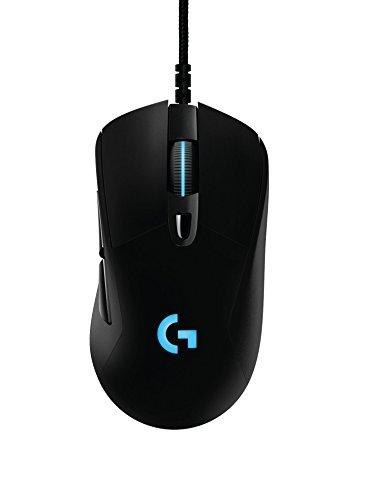 Logitech G403 kabelgebundene optische Gaming-Maus (mit 12.000 DPI und 16,8 Millionen Farben, geeignet für PC, Mac, USB) schwarz