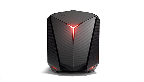 Lenovo IdeaCentre Y720 Cube Gaming Desktop-PC (i5-7400 Quad-Core, 8GB RAM, 1TB HDD, 128GB SSD, AMD Radeon RX560 4GB, Windows 10 Home) schwarz
