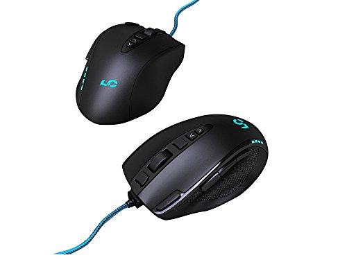 Lioncast LM20 Gaming Maus für FPS, RTS und MOBAs (16.400 dpi Laser-Sensor, LED, USB, 11 programmierbare Tasten)