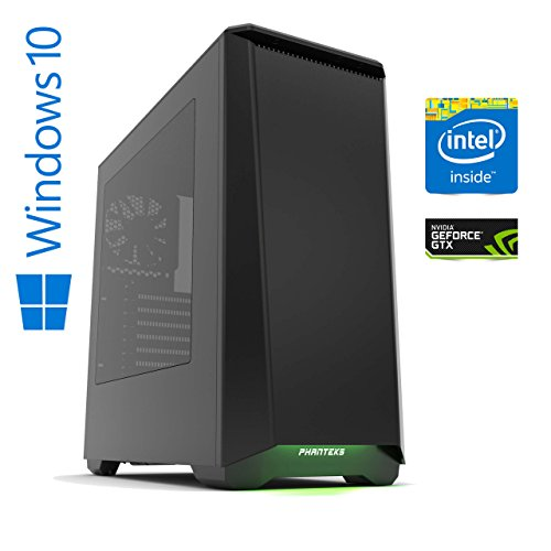 Memory PC Gaming Computer prodigium Y Intel PC Core i7-7700K 7. Generation (Quadcore) Kaby Lake 4x 4.2 GHz, ASUS PRIME Z270-P, 16 GB DDR4 2133Mhz, 256 GB SSD + 2000 GB HDD , Nvidia Geforce GTX 1070 8GB 4K, USB 3.0, MultimediaPC, High End Gaming, Workstation, CAD Fähig, Silent