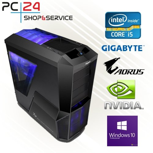 PC24 Gaming PC | Intel i5-7600K @4x4,00GHz | nVidia GF GTX 1060 mit 3GB RAM | 16GB DDR4 PC2133 RAM | Gigabyte GA-Z270X-Gaming K5 Mainboard | 600Watt 80+ ATX Netzteil | Windows 10 Pro | i7 Gamer PC