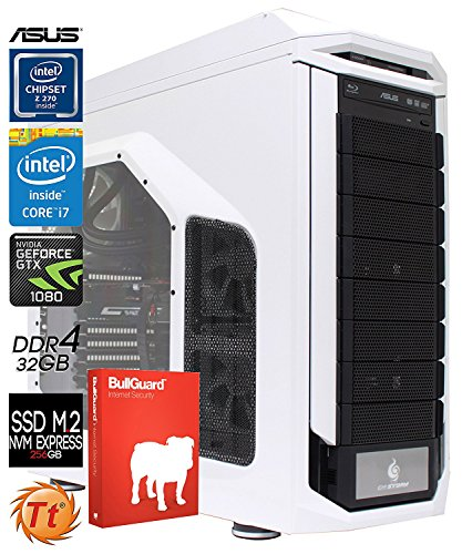 SNOGARD ultra gaming pc | i7-7700K | 32GB DDR4 | 4TB+256GB M2 | 2 x 8GB GTX1080 | Windows 10 Professional | Blu-ray/CD/DVD-Rewriter | high power gamer computer