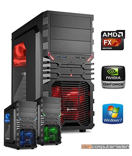 Gamer PC System AMD, FX-6300 6x3,5 GHz, 32GB RAM, 1000GB HDD, nVidia GT730 -4GB, inkl. Windows 7 (inkl. Installation) Gaming Computer Büro Multimedia dercomputerladen
