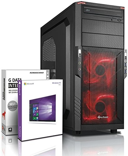 Ultra 8-Kern DirectX 12 Gaming-PC Computer FX 8320E 8x4.00 GHz Turbo - GeForce GTX1050Ti 4GB DDR5 - 16GB DDR3 1600 - 1TB HDD - Windows10 Prof - DVD±RW #5276
