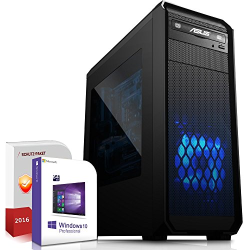 Gaming PC / Multimedia COMPUTER inkl. Windows 10 Pro 64-Bit! - AMD Quad-Core A8-7600 4 x 3,8 GHz - AMD Radeon R7 - 8GB DDR3 RAM - 1000GB HDD - 24-fach DVD Brenner - USB 3.0 - HDMI - DVI - VGA - Gamer PC mit 3 Jahren Garantie!