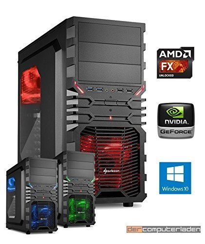 Gamer PC System AMD, FX-6300 6x3,5 GHz, 16GB RAM, 2000GB HDD, nVidia GTX1070 -8GB, inkl. Windows 10 (inkl. Installation) Gaming Computer Büro Multimedia dercomputerladen