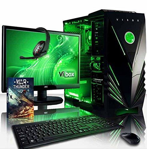 Vibox VBX-PC-5414 Ultra Paket 11L 54,6 cm (21,5 Zoll) Gaming Desktop-PC (AMD A Series A8-7600, 32GB RAM, 1TB HDD, AMD Radeon R7, kein Betriebssystem) grün