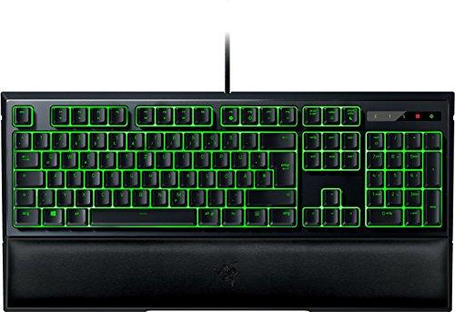 Razer Ornata Gaming Tastatur (mit den Mecha-Membran Tasten, Halbhohen Tastenkappen, Individueller grüner Beleuchtung und Ergonomisches Design mit Handballenauflage)