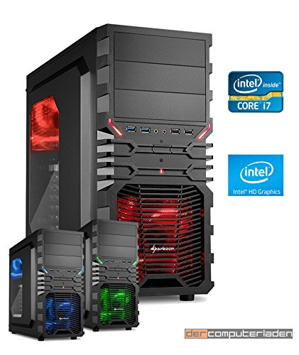 Gamer Aufrüst PC System Intel, i7-8700K 6x3,7 GHz, 32GB DDR4 RAM, Intel UHD Grafik 630 -1GB, dercomputerladen