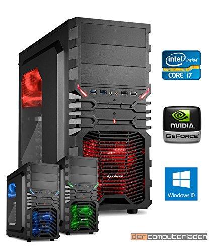 Gamer PC System Intel, i7-7700K (Kaby Lake) 4x4,2 GHz, 32GB DDR4 RAM, 2000GB HDD, nVidia GTX1070Ti -8GB, inkl. Windows 10 (inkl. Installation) Gaming Computer Büro Multimedia dercomputerladen