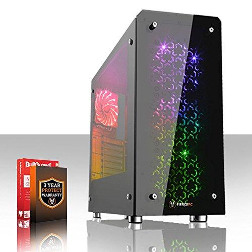 Fierce CHEETAH RGB Gaming PC - Schnell 4 x 4.5GHz Quad Core Intel Core i7 7700K, 120 mm All-In-One Flüssigkühler, 1TB Solid State Hybrid Drive, 16GB von 2133MHz DDR4 RAM-Speicher, NVIDIA GeForce GTX 1070 8GB, HDMI, USB3, Wi-Fi, VR fertig, 4K fertig, Perfekt für High-End-Spiele, Windows nicht Enthalten, 3 Jahre Garantie (503569)