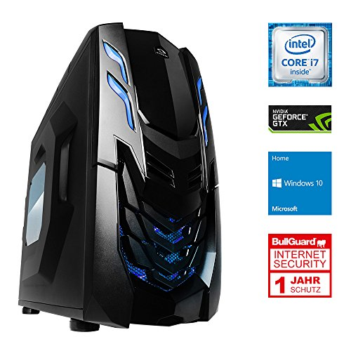 ONE Gaming Ultra High End X PC 8 · Intel i7-7700k (4 x 4.20GHz) · 8GB Nvidia GeForce GTX 1070 · 16GB DDR4 RAM · 240GB SSD · 2000GB HDD · MSI Z270-A PRO · Windows 10 Home · Leiser Gaming-PC · VR Ready · Kaby lake · 4K · CAD