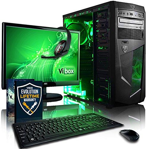 Vibox VBX-PC-1485 Standard Paket 3 54,6 cm (21,5 Zoll) Gaming Desktop-PC (AMD A Series A8-7600, 8GB RAM, 1TB HDD, AMD Radeon R7, kein Betriebssystem) grün