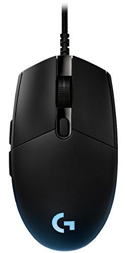 Logitech G Pro Gaming Maus (Tournament Edition für Esport-Profis gemacht) RGB mit 6 Programmierbare Tasten) schwarz