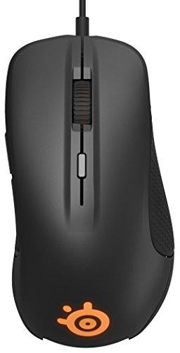 SteelSeries Rival 300, Optische Gaming-Maus, RGB-Beleuchtung, 6 Tasten, Gummierte seitliche Griffflächen, Farbe schwarz