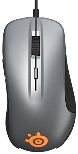 SteelSeries Rival 300, Optische Gaming-Maus, RGB-Beleuchtung, 6 Tasten, Gummierte seitliche Griffflächen, Farbe Gunmetal Grey