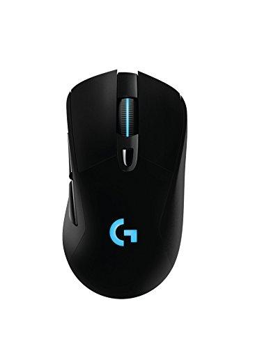 Logitech G403 kabellose/kabelgebundene optische Gaming-Maus (mit 12.000 DPI und kabelloser, 2,4-GHz-Verbindung für PC, Mac, USB) schwarz