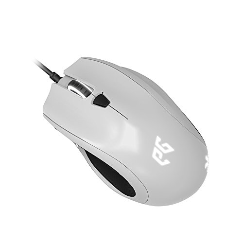 Epic Gear Cyclops X USB Optisch 5000DPI rechts Schwarz, Weiß Maus - Mäuse (rechts, Optisch, USB, 5000 DPI, 110 g, Schwarz, Weiß)