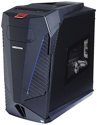 Medion Erazer X5345 G Gaming Desktop-PC (Intel Core i7-6700, 16GB DDR4 RAM, 1TB HDD, 512GB SSD, AMD Radeon RX480 8GB GDDR5, Win 10 Home) schwarz