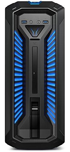Medion Erazer P67006 Gaming Desktop PC (Intel Core i5-8400, 1000GB Festplatte, 256GB PCIe SSD, 16GB DDR4 RAM, NVIDIA GeForce GTX 1050 Ti mit 4GB GDDR5 VRAM, Win 10 Home) schwarz
