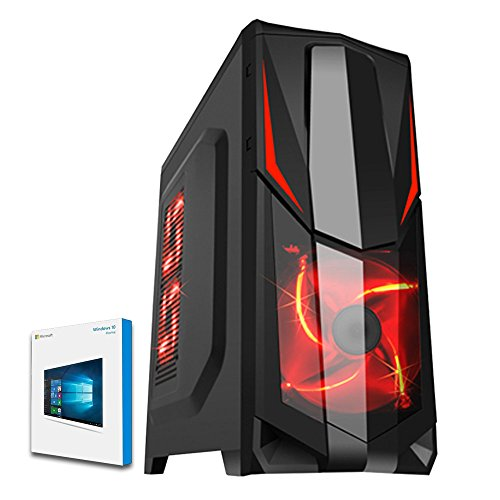 Fierce ULTRA SCHNELLE Zweikern Familie Gaming PC - Windows 10 - 3.9GHz AMD A-Series A4-6300 - Gaming, Büro, Familie PC - (WIFI, 16GB RAM, 1TB Festplatte, R7 Serie Grafik) - 221715