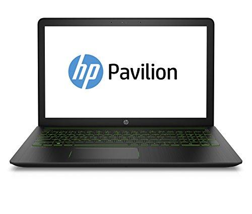 HP Pavilion Power 15-cb004ng 39,6 cm (15,6 Zoll Full HD) Gaming-Notebook (Intel Core i7-7700HQ, 8GB RAM, 1TB HDD, 128GB SSD, NVIDIA GeForce GTX 1050 2 GB DDR5, Windows 10 Home 64) schwarz