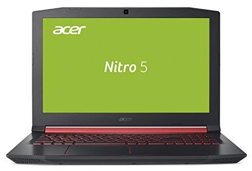 Acer Nitro 5 AN515-51-572A 39,6 cm (15,6 Zoll Full HD IPS matt) Gaming Notebook (Intel Core i5-7300HQ, 8GB RAM, 128GB SSD, 1TB HDD, GeForce GTX 1050Ti, Win 10) schwarz/rot
