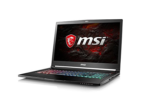 MSI GS73 7RE-014DE Stealth Pro (43,94cm/17,3 Zoll/120Hz) Gaming-Notebook (Intel Core i7-7700HQ Kabylake, 16GB RAM, 256GB SSD + 1TB HDD, Nvidia GeForce GTX1050 Ti, Windows 10) schwarz GS73