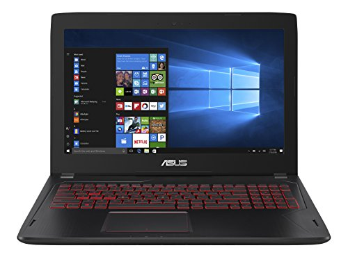 Asus FX502VM-DM113T 39,6 cm (15,6 Zoll mattes FHD) Gaming Notebook (Intel Core i7-6700HQ, 16GB RAM, 256GB SSD, NVIDIA GTX1060, Win 10) schwarz