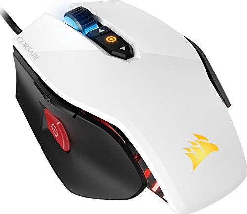 Corsair M65 PRO RGB Optisch Gaming Maus (RGB-LED-Hintergrundbeleuchtung, 12000 DPI) weiß