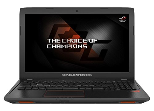 Asus ROG GL553VD-FY072T 39,6 cm (15,6 Zoll mattes FHD) Gaming-Notebook (Intel Core i7-7700HQ, 8GB RAM, 128GB SSD, 1TB HDD, NVIDIA GeForce GTX 1050, DVD-Laufwerk, Win 10 Home) schwarz