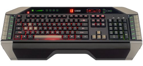 NEW! MadCatz Cyborg V. 7 USB Backlight PC Gaming Keyboard