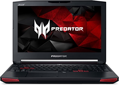 Acer Predator 15 (G9-593-70G8) 39,6 cm (15,6 Zoll FHD IPS matt) Gaming Notebook (Intel Core i7-6700HQ, 16 GB RAM, 128 GB SSD + 1000 GB HDD, GeForce GTX 1060, Displayport, Win 10 Home) schwarz/rot