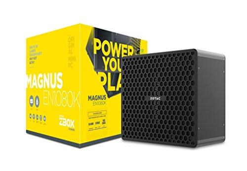 ZOTAC ZBOX EN1080K-BE Barebone NVIDIA GTX1080 IntelCore i7-7700 2x DDR4 SODIMM slots M2 SSD slot 2.5 SATAIII BAY WIFI BT VR Read DU