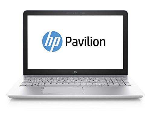 HP Pavilion 15-cc007ng 39,6 cm (15,6 Zoll) Notebook (Intel Core i5-7200U, 8 GB RAM, 256 GB, NVIDIA GeForce 940MX, Windows 10 Home 64) blau/silber