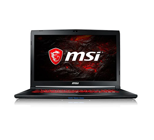 MSI GL72M 7REX 1225UK 17.3-Inch Gaming Laptop - (Black) (Intel Core i7-7700HQ, 8 GB RAM, 256 GB SSD Plus 1 TB HDD, GeForce GTX 1050Ti, Windows 10 Home)