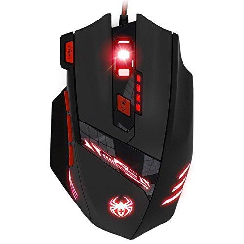 LIHAO Gaming Maus für Pro Gamer 9200dpi mit 8 Tasten,LED,USB-Wired Maus optisch T90