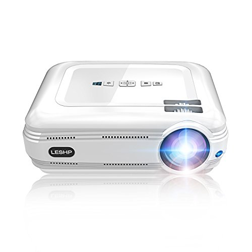LED Beamer Full HD, OCDAY 1080p Video LCD Heimkino Beamer 3200 Lumen Home Theater Backyard Outdoor Beamer Projektor Unterstützung Laptop Xbox VGA USB Speaker HDMI für Heimkino TV Laptop Gaming (Weiß)