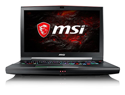 MSI GT75VR 7RF Titan Pro 011UK 17.3-Inch Gaming Laptop - (Black) (Intel Core i7-7820HK, 16 GB RAM, 256 GB SSD Plus 1 TB HDD, GeForce GTX 1080, Windows 10 Home)