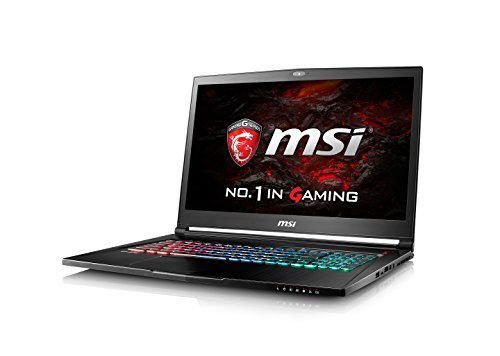 MSI GS73VR 7RF (Stealth Pro) 17.3 Inch Gaming Laptop (Black) - (Kabylake Core i7-7700HQ, 8 GB RAM, 128GB SSD, 2TB HDD, GTX 1060, Windows 10)