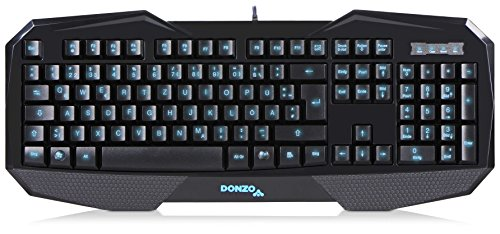 DONZO SI-859 Gaming Tastatur (deutsches Tastaturlayout, QWERTZ, LED Beleuchtung, USB) schwarz