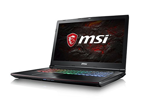 MSI GE72MVR 7RG-009DE Apache Pro (43,94cm/17,3 Zoll/120Hz) Gaming-Notebook (Intel Core i7-7700HQ Kabylake, 16GB RAM, 256GB SSD + 1TB HDD, Nvidia GeForce GTX1070, Windows 10) schwarz GE72