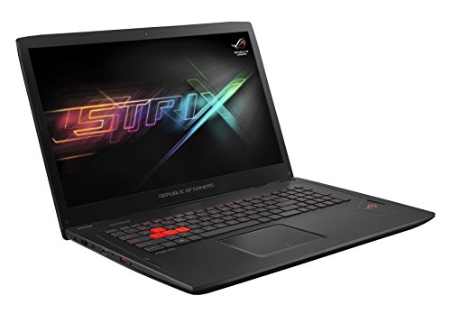 Asus ROG GL702VM-GC301T 43,9 cm (17,3 Zoll mattes FHD) Gaming-Notebook (Intel Core i5-7300HQ, 8 GB RAM, 256 GB SSD, 1 TB HDD, NVIDIA GeForce 1060, Win 10 Home) schwarz