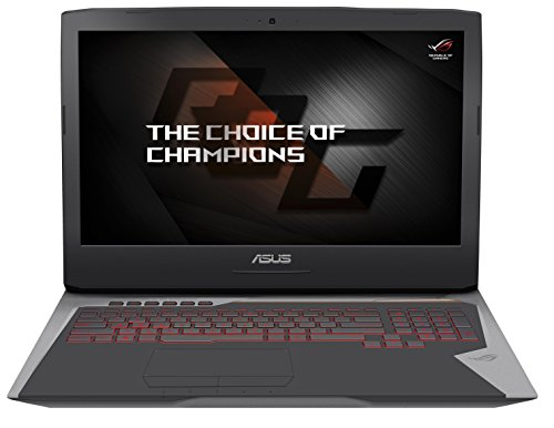 Asus ROG G752VS(KBL)-BA336T 43,9 cm (17,3 Zoll mattes FHD) Gaming Notebook (Intel Core i7-7700HQ, 8GB RAM, 256GB SSD, 1TB HDD, GeForce GTX 1070, BluRay, Win 10) grau