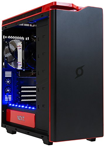 StormForce Cyclone Gaming Desktop PC - (Black) (Intel Core i7-6700 3.4 GHz, 16 GB RAM, 2 TB HDD, 128 GB SSD, NVIDIA GeForce GTX 1080 Dedicated Graphics, Wi-Fi, Windows 10)