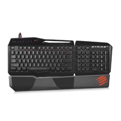 Mad Catz S.T.R.I.K.E.3 Gaming Tastatur für PC (Deutsch, Hintergrundbeleuchtung, USB) - Schwarz