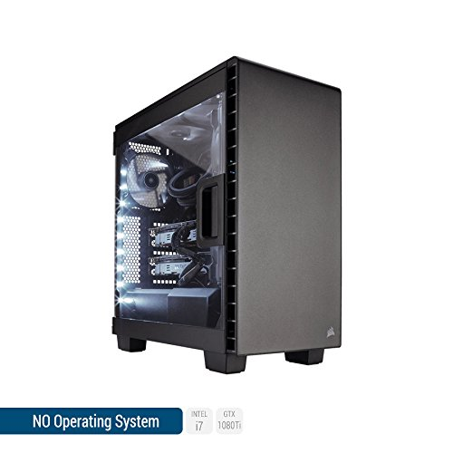 Sedatech Ultimate Gaming PC Intel i7-8700K 6x 3.70Ghz (max 4.7Ghz), Geforce GTX 1080Ti 11Gb, 64 Gb RAM DDR4 3000Mhz, 1 Tb SSD, 3 Tb HDD, USB 3.1, HDMI2.0, 4K resolution, DirectX 12, VR Ready, 80+ PSU. Desktop Computer without OS