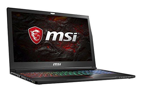 MSI GS63VR 7RF-214DE Stealth Pro (39,6 cm/15,6 Zoll) Gaming-Notebook (Intel Core i7-7700HQ, 16GB RAM, 2 TB HDD + 256 GB SSD, Nvidia GeForce GTX 1060, Windows 10 Home) schwarz GS63