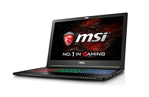 MSI GS63VR 7RF (Stealth Pro 4K) 211UK  15.6 Inch Gaming Laptop (Black) - (Kabylake Core i7-7700HQ, 16 GB RAM, 256GB SSD, 2 TB HDD, GTX 1060, Windows 10)